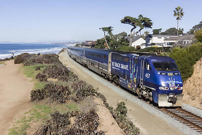 Digital Art - Amtrak Pacific Surfliner by Photographic Art by Russel Ray Photos