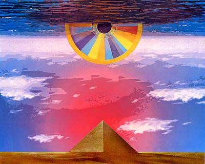 Pyramids Mixed Media - Amun Ra by Dominic Piperata