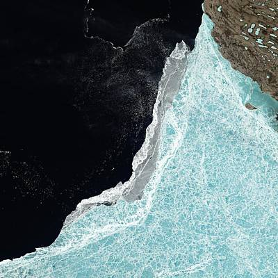 Brash Photograph - Amundsen Gulf Sea Ice Coverage by Nasa