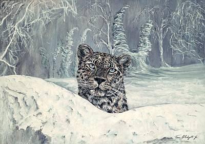 Painting - Amur Leopard by Tom Blodgett Jr