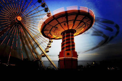 Amuse Me - Navy Pier In Chicago Art Print by Mark E Tisdale