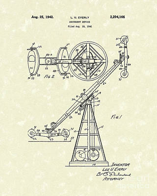 Drawing - Amusement Device 1942 Patent Art by Prior Art Design