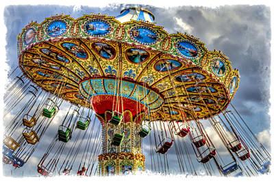 Amusement Park Ride Print by Geraldine Scull