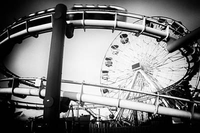 Photograph - Amusement Park Rides On A Pier by Celso Diniz