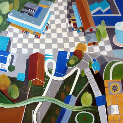 Amusement Ride Painting - Amusement Park by Toni Silber-Delerive