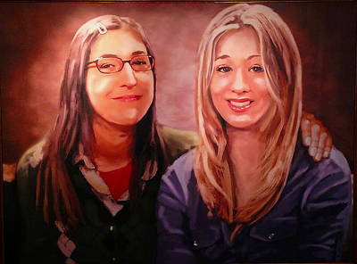 Bang Painting - Amy And Penny by Paul Van Scott