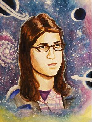 Big Bang Painting - Amy Farrah Fowler by Amber Stanford