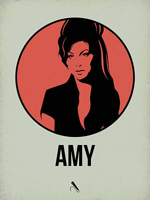 Singer Mixed Media - Amy Poster 2 by Naxart Studio