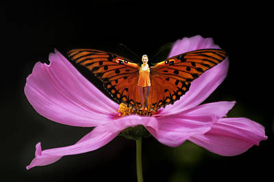 Art Print featuring the photograph Amy The Butterfly by Susan Rovira