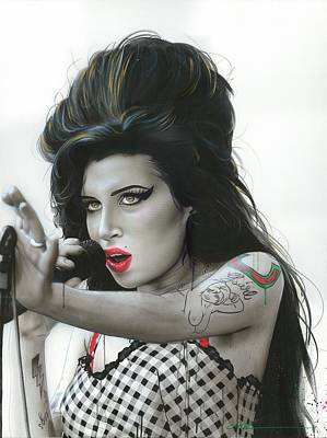Performance Painting - Amy Winehouse - ' Amy Vi ' by Christian Chapman Art