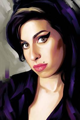 Amy Winehouse Artwork 1 Art Print by Sheraz A