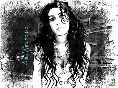 Amy Winehouse Art Print by Barbara Chichester