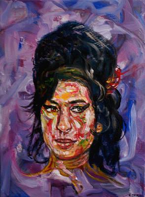 Amy Winehouse Art Print by Edward Ofosu
