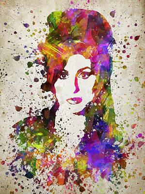 Portraits Digital Art - Amy Winehouse in Color by Aged Pixel