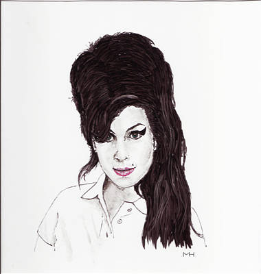 Drawing - Amy Winehouse by Martin Howard
