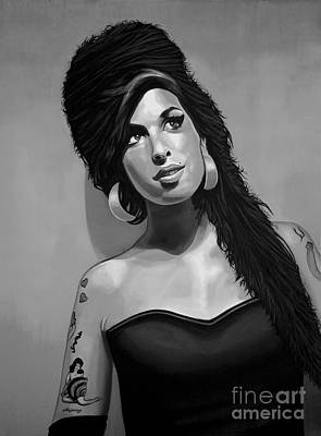 Celebrities Mixed Media - Amy Winehouse by Meijering Manupix