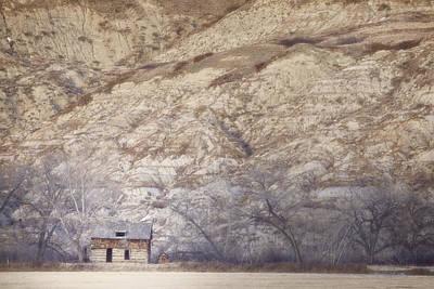 An Abandoned Farmhouse At The Base Art Print by Roberta Murray