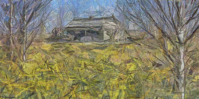 Digital Art - An Abandoned Farmhouse  by Digital Photographic Arts