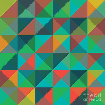 Mosaic Wall Art - Digital Art - An Abstract Geometric Vector Pattern by Mike Taylor
