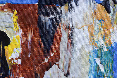 Burnt Umber Painting - An Abstract Sort Of Weekend by Heidi Smith
