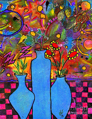 African-american Mixed Media - An Abstract Still Life by Angela L Walker