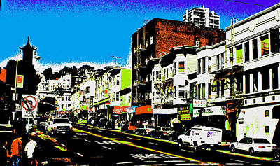 Photograph - An Abstract View Of Chinatown by Joseph Coulombe