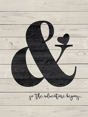 Ampersand Painting - An Adventure Awaits by Jo Moulton