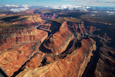 Photograph - An Aerial View Of The Grand Canyon by Peter Mcbride