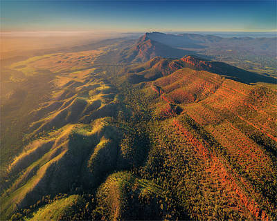 An Aerial View Of The Southern Flinders Art Print by Southern Lightscapes-australia