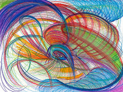 Modern Abstract Drawing - An Affair Of Energy by Kelly K H B
