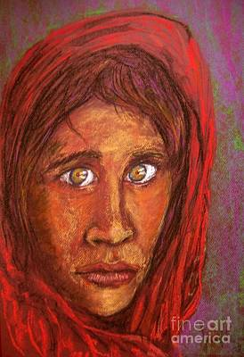 Pastel - An Afghan Girl by Joan-Violet Stretch