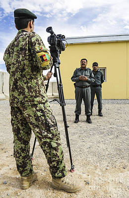 Afghan National Army Photograph - An Afghan National Army Public Affairs by Stocktrek Images