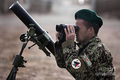 Afghan National Army Photograph - An Afghan National Army Soldier Trains by Stocktrek Images