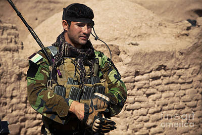 Afghan National Army Photograph - An Afghan National Army Special Forces by Stocktrek Images