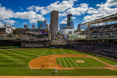An Afternoon At Target Field Art Print