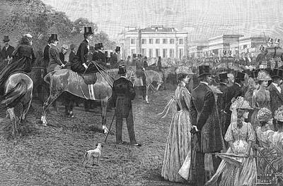 Hyde Park Drawing - An Afternoon In Hyde Park, Central by  Illustrated London News Ltd/Mar
