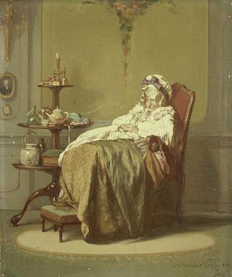An Afternoon Nap, Alexander Hugo Bakker Korff Art Print by Litz Collection