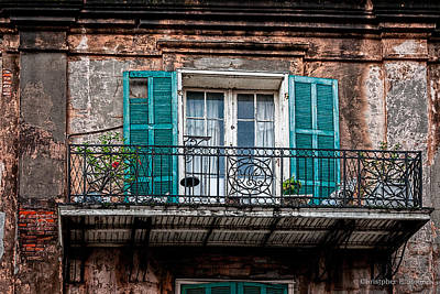 Photograph - An Aged Balcony by Christopher Holmes