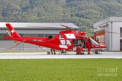 Agustawestland Aw109 Photograph - An Agustawestland Aw109 Helicopter by Luca Nicolotti