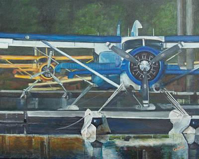 Kodiak Alaska Painting - An Alaskan Parking Lot by Christy Hollibone