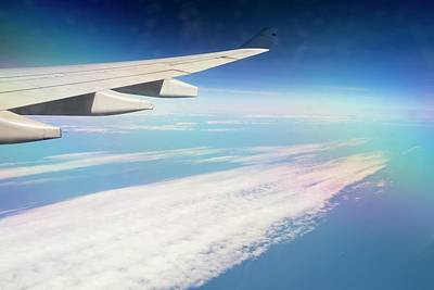 An Airplane Wing Art Print by Ashley Cooper