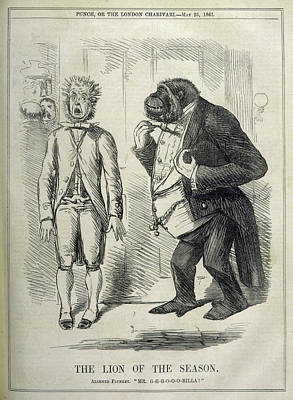 An Alarmed Flunkey Introduces  Mr Art Print by Mary Evans Picture Library