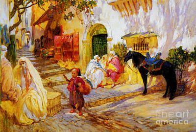 An Algerian Street  Art Print by Celestial Images