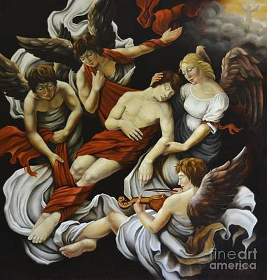 Painting - An Allegory Of Death by Nathalie Chavieve
