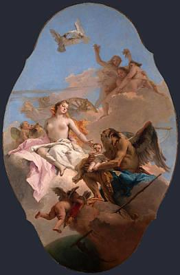 Giovanni Battista Tiepolo Painting - An Allegory With Venus And Time by Giovanni Battista Tiepolo