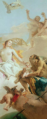 An Allegory With Venus And Time Art Print by Tiepolo