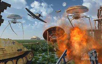 An Alternate Reality Where Allied Art Print by Mark Stevenson