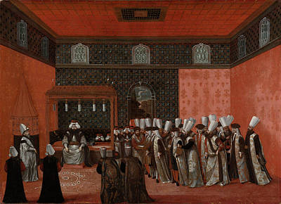 An Ambassadors Audience With Sultan Ahmed IIi Ambassador Art Print