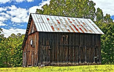 An American Barn 2 Painted Art Print by Steve Harrington