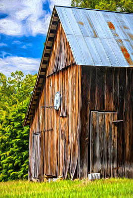 On Trend At The Pool - An American Barn oil by Steve Harrington